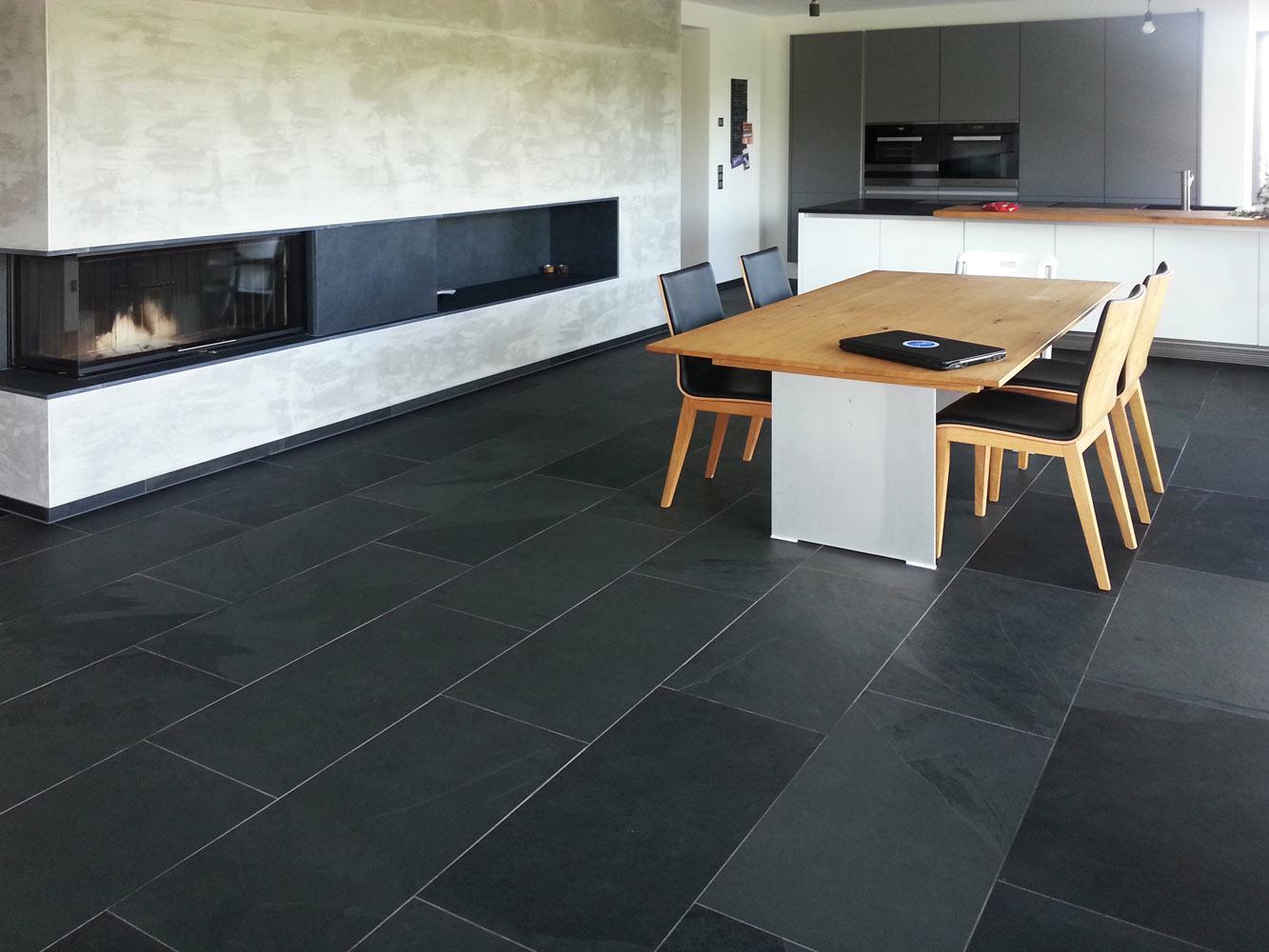 schiefer absolut negra fliesen aus stein. Black Bedroom Furniture Sets. Home Design Ideas